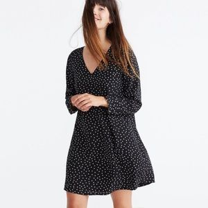 Madewell Star Print Silk Button Back Dress